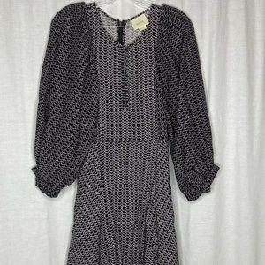 Anthropologie Maeve Black White Polka Dot Dress XS